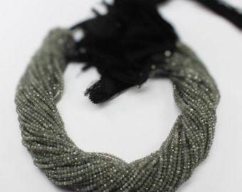 "one strand labradorite rondelle micro faceted 2mm 13"" inches.  Amazing Quality (BF2M003)"
