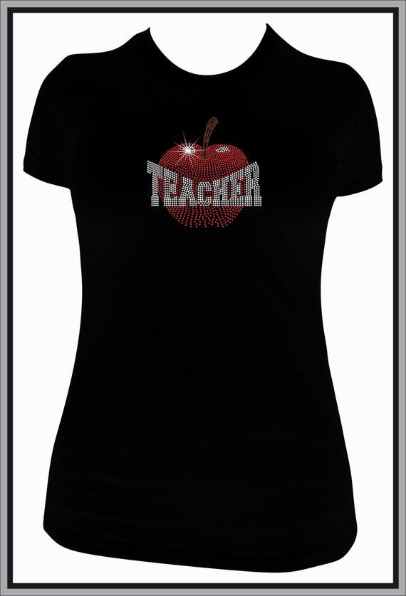 Customized Rhinestone Teachers Shirts