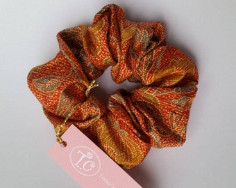Kimono cloth scrunchy scrunchy / silk / silk hair jewelry