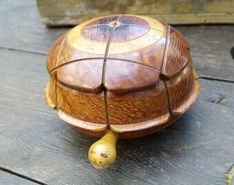 Wood tortoise jewelry box