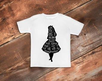 Toddler Girl Shirt, Funny Toddler Shirt, Alice in Wonderland, Toddler Girl Clothes, Toddler Shirt, Funny Toddler Clothes, Toddler Tees