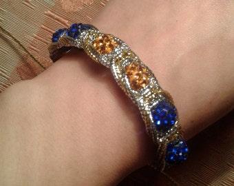 Shambhala bracelet gold and silver