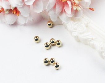 4mm bead with 1mm hole 14K Gold Filled High Quality Metal Bead