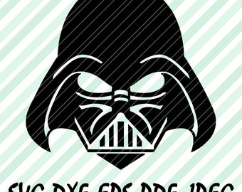 Star Wars SVG DXF Pdf File Darth Vader Disney Design Vector Format Cricut Design Space Cameo Silhouette Studio Vinyl Cut Skywalker Art