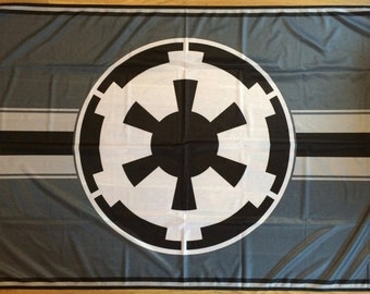 Star Wars Galactic Empire Outdoor Decorative Flag   Weather Resistant   Rich, UV Resistant Colors   3x5ft / 90x150cm