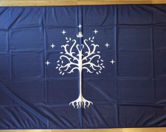 Lord of the Rings Flag   Gondor White Tree   3x5 ft / 90x150 cm