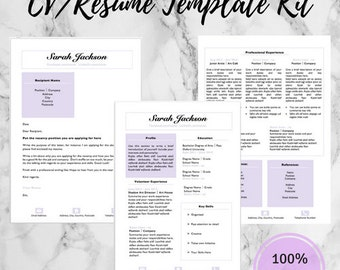 editable cv resume cover letter template set first job template job application kit - Resume Cover Letter Template