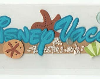 Disney Vacation Title Jolee's Boutique Scrapbook Stickers Embellishments Cardmaking Crafts