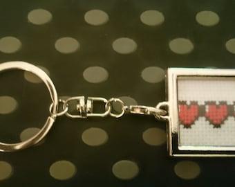 Zelda Hearts Life Keychain Keyring Handmade