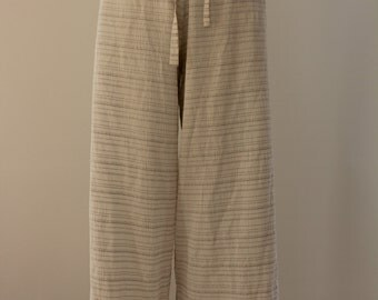 Baggy Wrinkled Trousers (White)