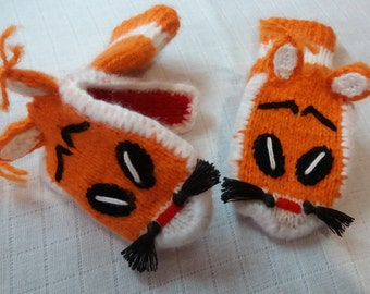 fox funny gloves(free shipping)