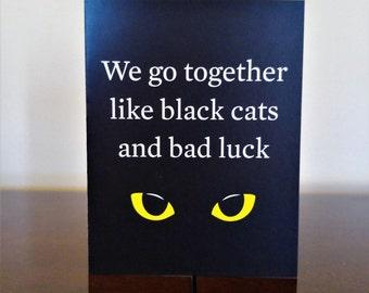 Black Cats Card - Blank