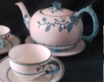 E J D B BODLEY tea pot - c1876 - 79 . Item is open to Offers comes with cups saucers FREE
