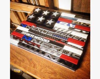American Flag Hockey Sticks