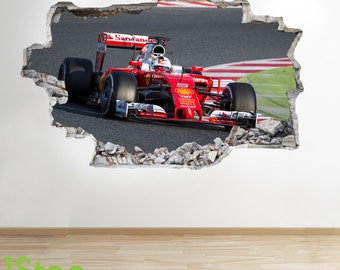 Formula one etsy - Wandtattoo ferrari ...