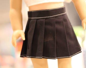 """18"""" Doll Black Pleated Skirt"""