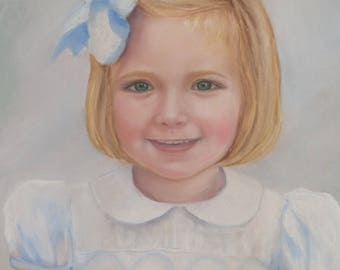 CUSTOM Pastel Portrait - girl
