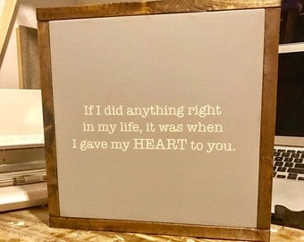Wood Sign - Wood Signs - gift - Gift for Her - Love Quotes - Quote - Handpainted - Wall Hangings - Wall Decor - Home Decor - Wall Art