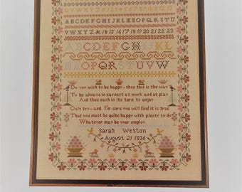 Anne Powell Heirloom counted cross stitch chart - Sarah Weston Sampler