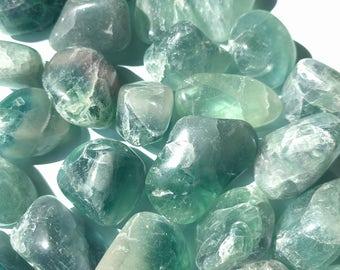 Tumbled Fluorite Crystal Gemstone (LARGE)
