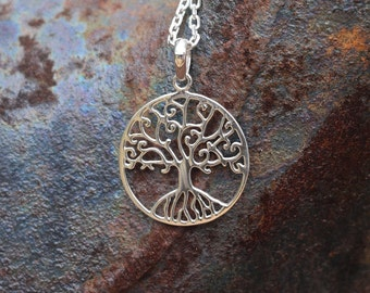 Tree of Life Necklace Charm, Sterling Silver Tree of Life Pendant, Tree of Life Jewellery, Silver Tree of Life Pendant Only