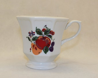 Hallmark Fruit Pattern Pedestal Coffee Tea Cup