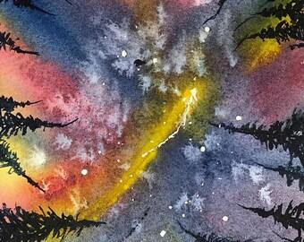 Galaxy (Original Watercolor Painting)