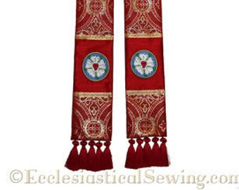 Luther Rose Reformation Pastoral Stole