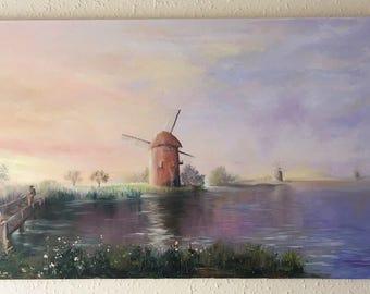 "Original Oil Painting "" Sunset"""