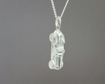 Monopoly car pendant necklace - Sterling silver monopoly pendant necklace - Monopoly charm - Tiny monopoly pendant