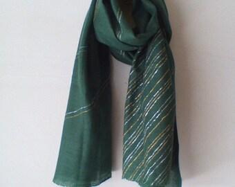 Silk handpainted shawl/stole