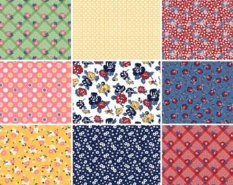 Boundless 1930's Delights Precut Fabric - 42, 5 inch Precut Fabric Squares