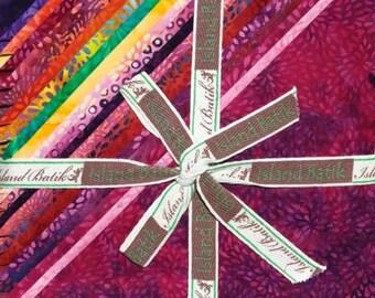 "Island Batik - Blushing Blooms Batiks Stack Pack/Layer Cake by Kathy Engle - 42, 10"" X 10"" Precut Fabric Squares"