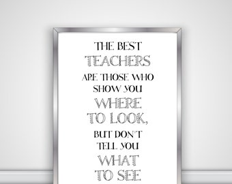 The Best Teachers Are Those Who Show You Where To Look But Don't Tell You What To See - Digital File