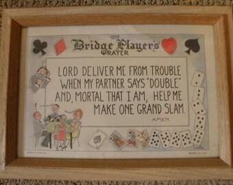 C.P. Meier Bridge Players Prayer Print
