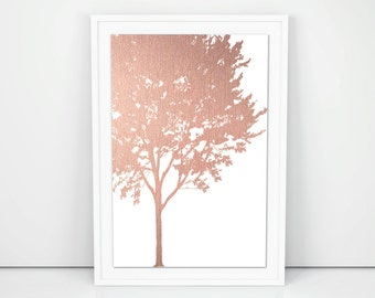 Rose Gold Wall Decor Awesome Rose Gold Wall Art  Etsy Decorating Inspiration
