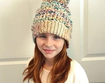Crochet Chunky Pom Pom Toque