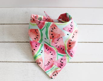 WATERMELON | Dog Bandana, Dog Scarf, Dog Accessories, Pet Bandana, Pet Accessories, Dog Clothes, Dog Acessories, Dog Apparel