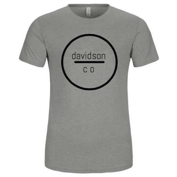 the capitol company 'County' unisex short sleeve jersey t-shirt- Gray