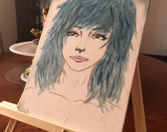 Blue Girl Painting