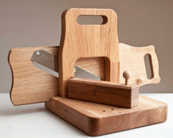 Handcrafted Wooden Salami Cured Meat Slicer (Cutter)