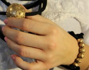 """Bronze Bracelet """"Bubbles"""""""