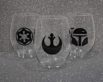 Star Wars Wine Glass, Rebel Alliance, Star Wars Rebel Gift