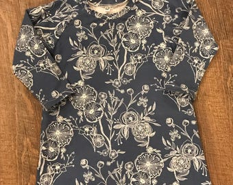 Baby girl cotton knit dress/12-18 month/children clothing/baby dress/baby gift/toddler cotton knit dress