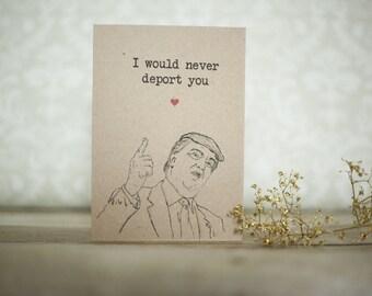 Trump birthday Card Funny birthday Card Fiancé birthday Card Boyfriend birthday Card Girlfriend birthday Card President birthday trump card