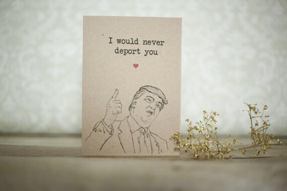Trump birthday Card Funny birthday Card Fianc birthday Card – Birthday Greeting from the President