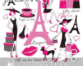 paris fashion cutting files, svg, dxf, pdf, eps included - cutting files for cricut and cameo - Cutting Files SVG - CT556