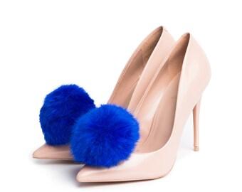 Pom Pom in Blue - Shoe Clips
