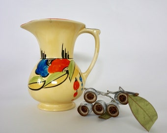Beautiful Myott hand painted jug from Art Nouveau period