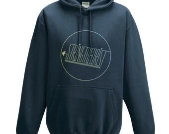 Men's Hooded Sweatshirt Graphic (Circle Logo) - Stringtheorist Official Merchandise